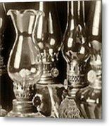 Oil Lamps Metal Print