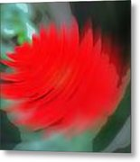 Oil Painting - A Spinning Effect To A Flower Metal Print