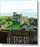 Oil Painting - Aerial View Of Dover Castle Metal Print
