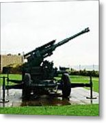 Oil Painting - Anti Aircraft Gun At Dover Castle Metal Print
