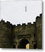 Oil Painting - British Flag Over A Doorway Inside The Stirling Castle Metal Print