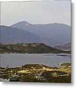 Oil Painting - Rugged Shoreline And Waters Of A Loch In The Scottish Highlands Metal Print