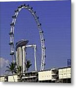 Oil Painting - Singapore Flyer And Marina Bay Sands Along With Preparation For  Metal Print