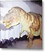 Oil Painting - Thankfully This T Rex Is A Dummy Metal Print