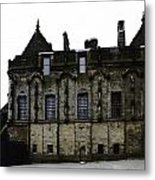 Oil Painting - The Royal Palace Inside Stirling Castle In Scotland Metal Print