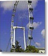Oil Painting - The Wheel Of Singapore Flyer Metal Print