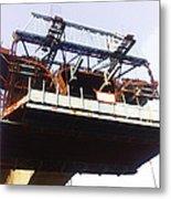 Oil Painting - Bridge As A Part Of Construction Metal Print