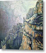 Oil Painting - Majestic Canyon Metal Print