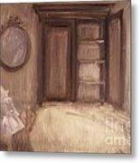 Oil Painting Of A Bedroom/ Digitally Painting Metal Print