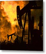 Oil Pumps Metal Print