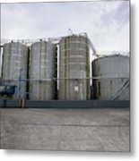 Oil Recycling Works Metal Print