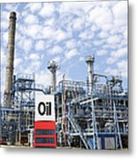 Oil Refinery And Industries Metal Print