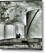 Oil Storage Tanks 1 Metal Print