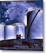 Oil Storage Tanks 2 Metal Print