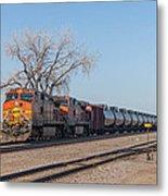 Bnsf Oil Train In Dilworth Minnesota Metal Print