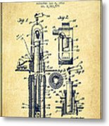 Oil Well Pump Patent From 1912 - Vintage Metal Print