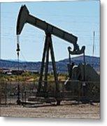 Oil Well  Pumper Metal Print