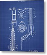 Oil Well Reamer Patent From 1924 - Blueprint Metal Print