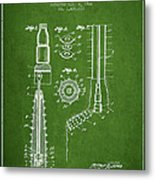 Oil Well Reamer Patent From 1924 - Green Metal Print