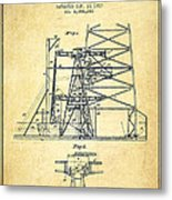 Oil Well Rig Patent From 1917- Vintage Metal Print