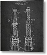 Oil Well Rig Patent From 1927 - Dark Metal Print