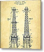 Oil Well Rig Patent From 1927 - Vintage Metal Print