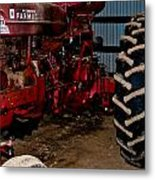 Oiled Tractor Metal Print