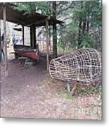 Ojibwe Fish Trap Metal Print