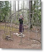 Ojibwe Wigwam Part 1 Metal Print