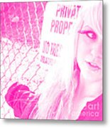Ok Yeah No Trespassing Sure Metal Print