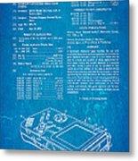 Okada Nintendo Gameboy Patent Art 1993 Blueprint Metal Print