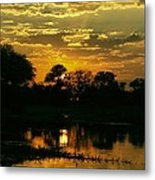 Okavango Sunset Metal Print