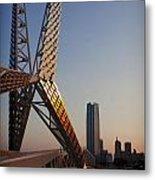 Okc Sky Bridge Metal Print