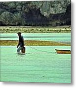 Okinawan Fisherman Metal Print