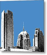 Oklahoma City Skyline - Slate Metal Print