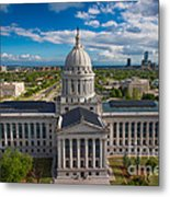 Oklahoma City State Capitol Building B Metal Print by Cooper Ross