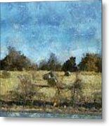 Oklahoma Hay Rolls Photo Art 02 Metal Print