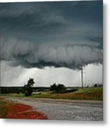 Oklahoma Wall Cloud Metal Print
