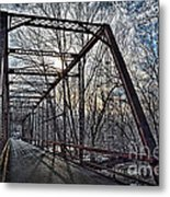 Ol' Iron Bridge Of Dark Hallow Metal Print