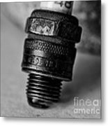 Old 48 Made In U S A Spark Plug Metal Print by Wilma  Birdwell
