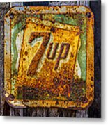 Old 7 Up Sign Metal Print