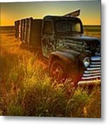 Old Abandoned Farm Truck Metal Print