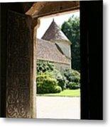 Old Abbey Church Door - Abbey Fontenay Metal Print