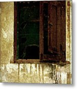 Old And Decrepit Window Metal Print