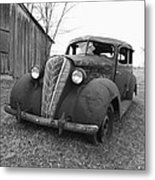 Old And Forgotten Black And White Metal Print