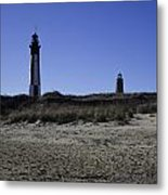 Old And New Cape Henry Lighthouse Metal Print