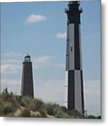 Old And New Cape Henry Lights Together Metal Print