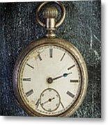Old Antique Pocket Watch Metal Print
