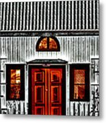 Old Antique Wooden House Metal Print