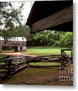 Old Appalachian Barn Yard Metal Print